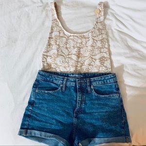 NWT White & cream lace Bodysuit/Swimsuit